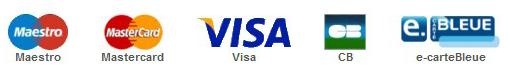 Les cartes bancaires acceptées